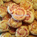 Caracolas saladas de hojaldre