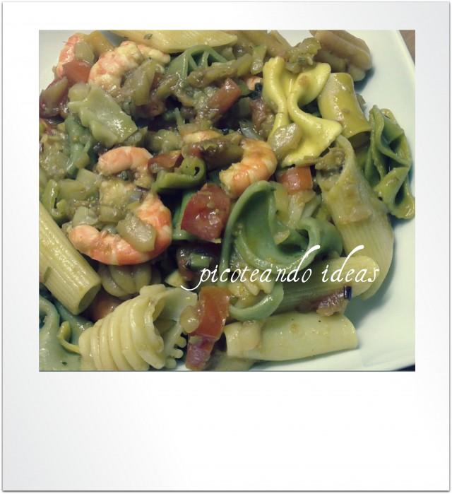 Pasta de verdura al curry
