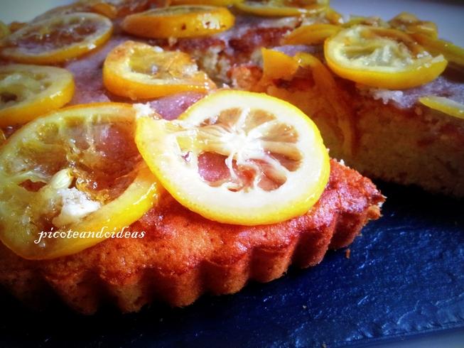 Bizcocho de limón con mermelada de limón