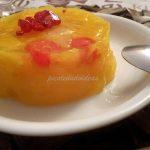 Juego de bloguer@s: Gelatina de naranja con frutas