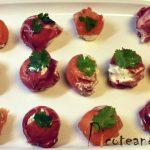 Bolitas de jamón y de salmón