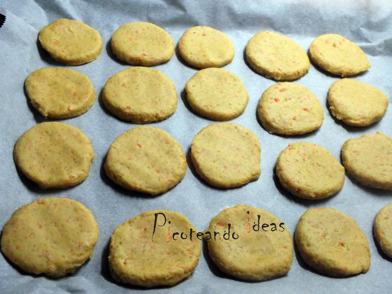 galletas de zanahhoria, elaboracion