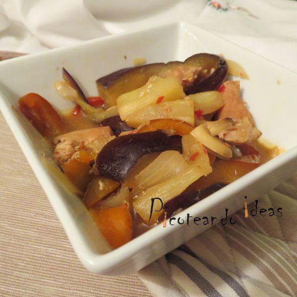 Pollo con piña al estilo oriental (2)