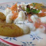 Ñoquis de patata en salsa de piña