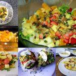 Recopilación de ensaladas con fruta