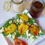 Juego de bloguer@s 2.0: Ensalada de melocotón a la plancha con vinagreta hierbabuena