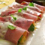 Canelones de jamon rellenos de espinaca y mango-Juego de bloguer@s 2.0