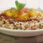 Ensalada de arroz con mango y pulpo