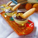 Copa de crema de naranja y chocolate