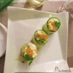 Juego de bloguer@s 2.0: Aro de pepino con mango y aguacate