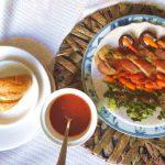 Secreto iberico en salsa de membrillo con guarnición