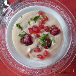 Sopa de peras y frutos rojos de los Hermanos Torres