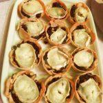 Tartaletas de morcilla con manzana