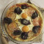 Pizza hojaldre de morcilla y huevo