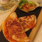 Quesadilla de sobrasada con queso