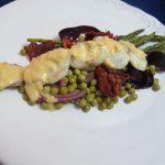 Juego de bloguer@s 2.0: Corvina asada con guarnición de verduras