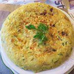 Tortilla de patata y calabacin