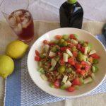 Ensalada de lentejas con bulgur al estilo griego