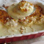 Huevos rellenos al horno con bechamel