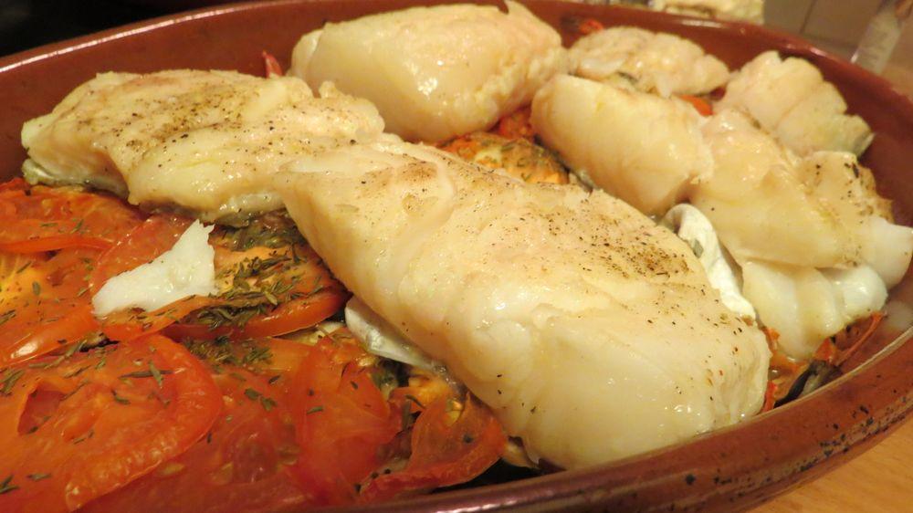 Picoteando ideas bacalao en cama de tomate y berenjena - Berenjenas rellenas de bacalao ...