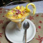 Copa de mango y berberecho