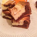 Brownie marmolado de chocolate y cheescake